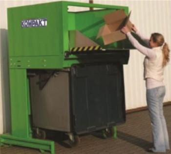 cardboard bin compactor 1100e